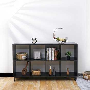 Mueble con muebles de nogal Vintage para el hogar, estantería de libros...