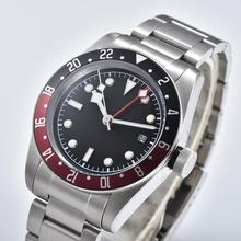 GMT automatic mens watch 3804 GMT movement stainless steel c