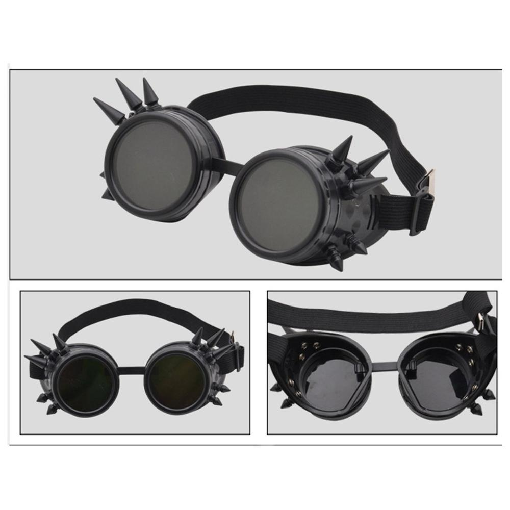 With Rivet Retro Cyber Goggles Glasses Cyber Goggles Glasses Vintage Welding Gothic Sunglasses(China)