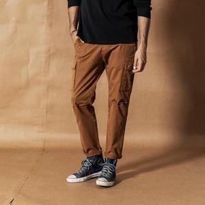 Image 2 - SIMWOOD 2020 אביב חדש מכנסיים מטען גברים Streetwear בציר אופנה היפ הופ קרסול אורך מכנסיים טקטי בתוספת גודל מכנסיים 190461