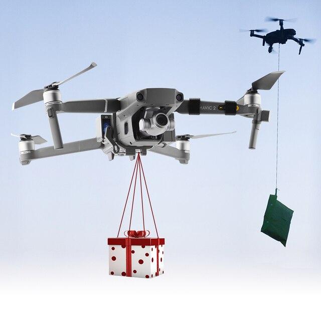 Système de chute dair Airdrop pour DJI Mavic 2 Pro Zoom Air 2 Drone appâts de pêche anneau de mariage cadeau livrer la vie sauvetage lancer lanceur