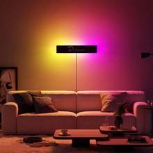 Nowoczesna lampa ścienna LED RGB dekoracja salonu kolorowa sypialnia lampki nocne kinkiety jadalnia oświetlenie wewnętrzne ściemnialne światła