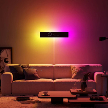 Modern RGB LED Wall lamp Living Room Decoration Colorful Bedroom Bedside Wall lights Dining Room Indoor Lighting Dimmable Lights