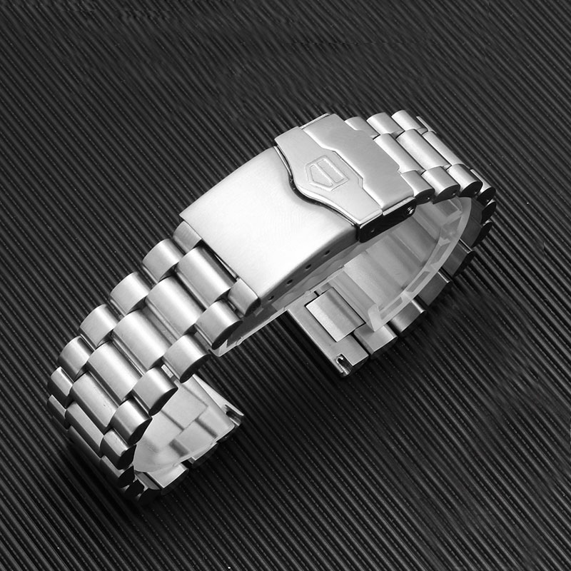 20mm 22mm Stainless steel watch band with folding buckle replacement metal bracelet for HEUER watch accessories