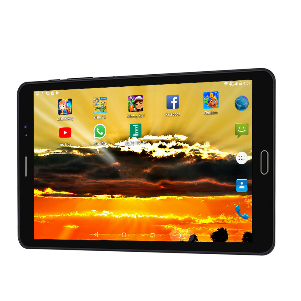 BDF 8 Inch Tablets Android 6.0 Quad Core Tablet Pc Phone Call Built-in 3G Dual SIM Card Laptop WiFi Bluetooth Tab