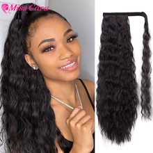 Hair-Corn Piece Human-Hair Long-Ponytail Wavy Miss-Cara 120g Wrap-On-Clip Deep-Wave