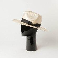 01907-HH7397 HANDMADE natural sisal Pearl luster fedoras cap men women leisure b
