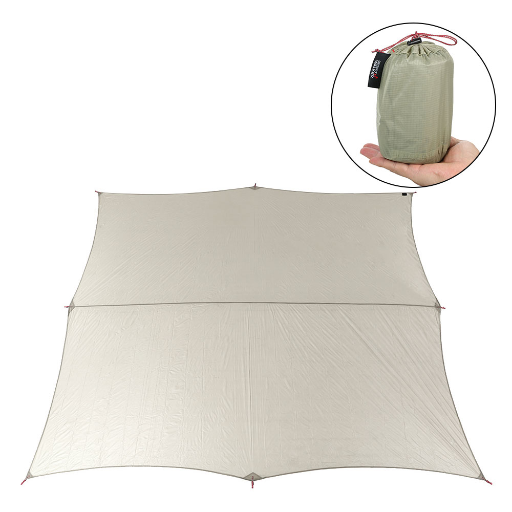 Nouveau 11.5 * 10FT léger imperméable à l'eau pluie mouche hamac bâche couverture parasol plage tente abri auvent pour Camping en plein air voyage