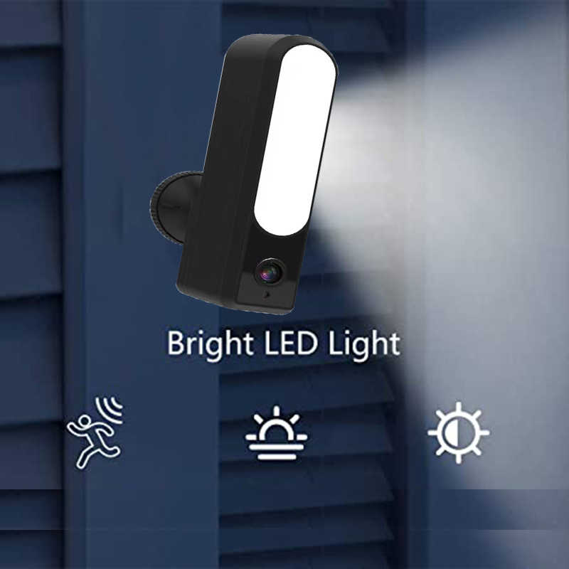 Wdskivi 投光器 ip カメラ hd 1080 p 防水屋外 led ランプ ip カメラ P2P wifi セキュリティカメラ cctv 監視カメラ