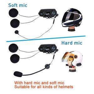 Image 3 - הכי חדש Fodsports M1 S פרו אופנוע אינטרקום 8 רוכבים קסדת אוזניות Bluetooth Bluetooth האינטרפון להתחבר BT S2 V6 TCOM SC