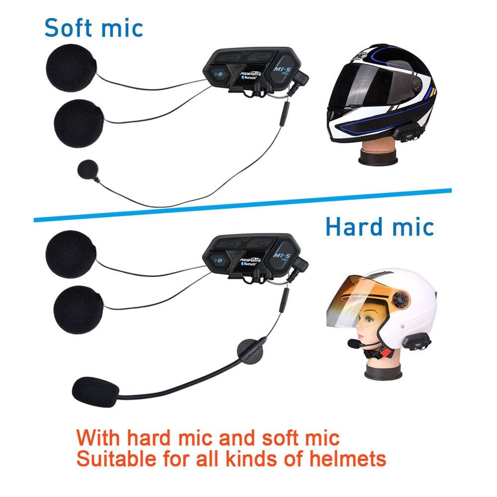 Neueste Fodsports M1-S Pro Motorrad Intercom 8 Fahrer Helm Headset Bluetooth Bluetooth Sprech Verbinden BT-S2 V6 TCOM-SC