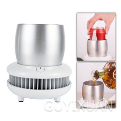 New arrive Summer portable iced beverage cold drink cup mini desktop small office car fast cooling cup Layer Refrigerator