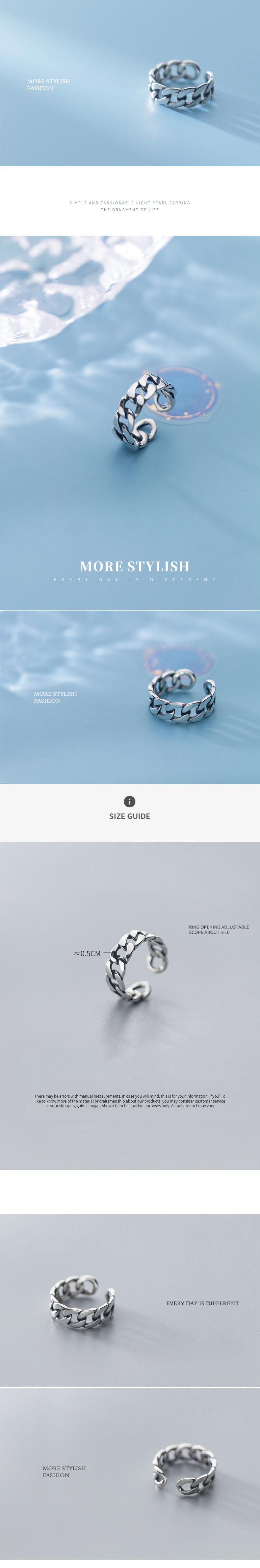 Leouerry Стерлинговое Серебро 925 пробы широкая цепочка кольцо