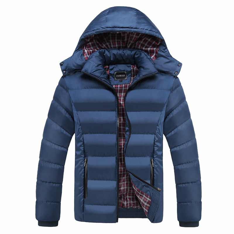 Duck Down For Men Winter Jacket Warm Coat Navy Blue Hooded Thick Snow-outwear Full Sleeve Down Jacket Oversize 3XL 4XL 5XL 6XL