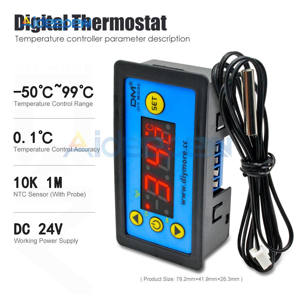 W3230 AC 110V-220V DC12V 24V Digital Thermostat Temperature Controller Regulator Heating Cooling Control Instruments LED Display