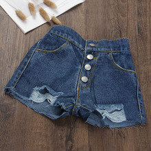 2018 girl s jeans embroidered flowers rose kids trousers cowboy pants denim 3 7 year old child Summer Girl Denim Shorts Child Girl Old Shorts Princess Jeans Children Pants Girl Solid Color Clothing 3-7 Years Old Girl Jeans
