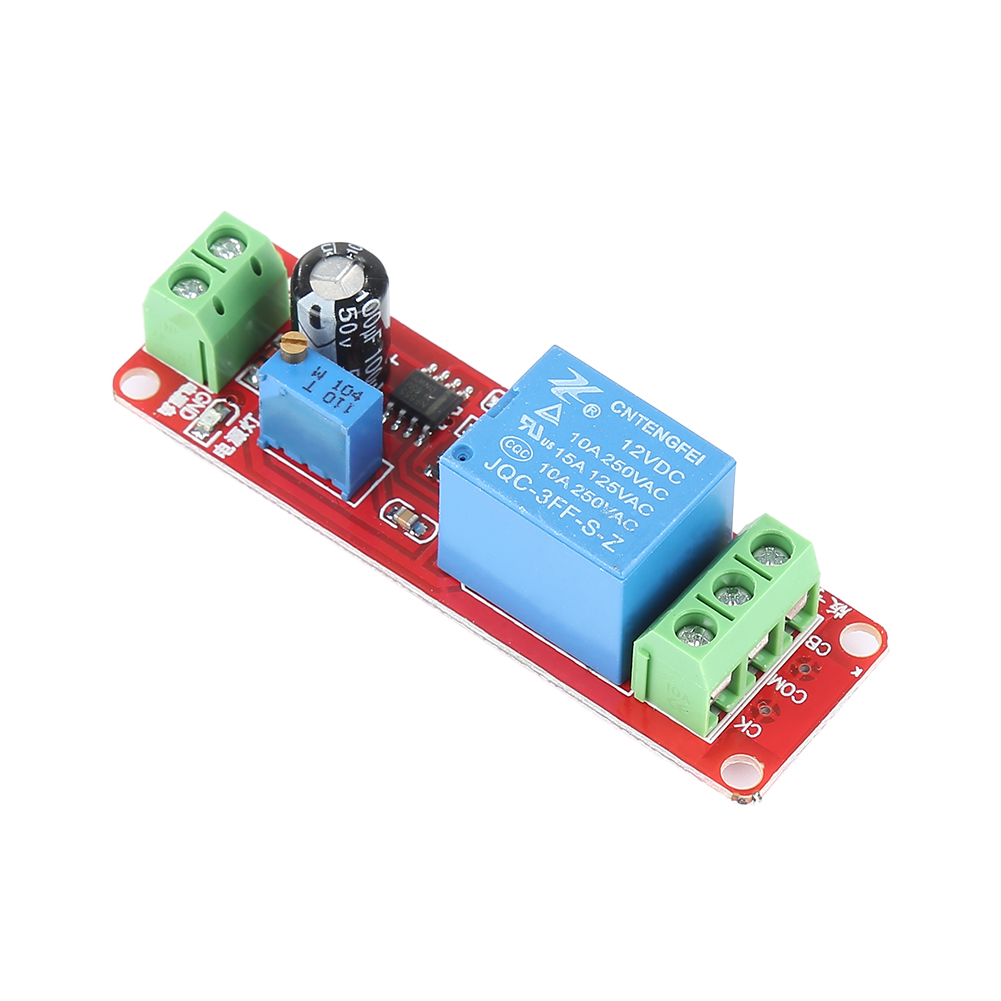 NE555 12V Pulse Generator Pulse Starter Duty Cycle Adjustable Timer Relay Switch Module Oscillator Square Wave Signal Generator|Home Automation Modules| |  - title=