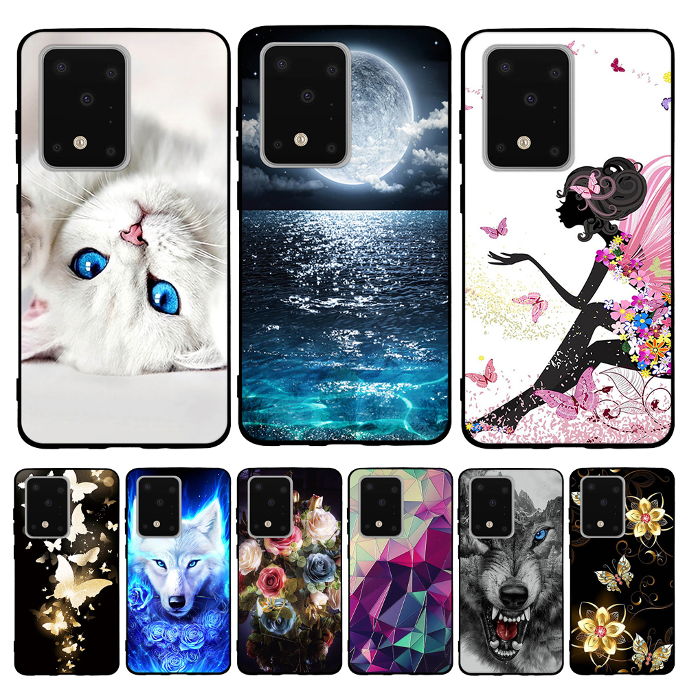 For Samsung Galaxy S20 Ultra Case Soft Silicone For Samsung Galaxy S20 Ultra Cover Cat Capa For Samsung Galaxy S20 Ultra Funda