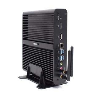 HYSTOU Intel Core i7 Gaming Computer 8550U 8565U Barebone Fanless Mini PC Windows 10 Linux UHD 4K HTPC Desktop DDR4 RAM M.2 SSD