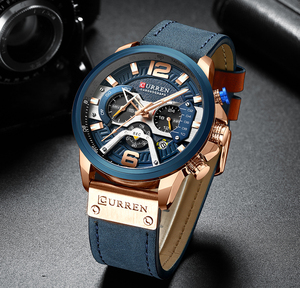 Image 5 - CURREN Watch Mens Watches Top Brand Luxury Men Casual Leather Waterproof Chronograph Men Sport Quartz Clock Relogio Masculino
