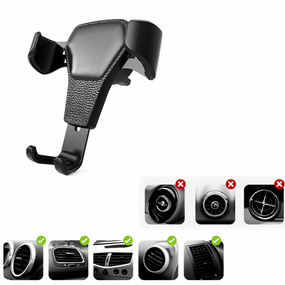 Gravity Stand Car Phone Holder Air Vent Mount GPS Mobile Cellphone Holder For X 8 7 6 Plus Samsung S10 Smartphone Support