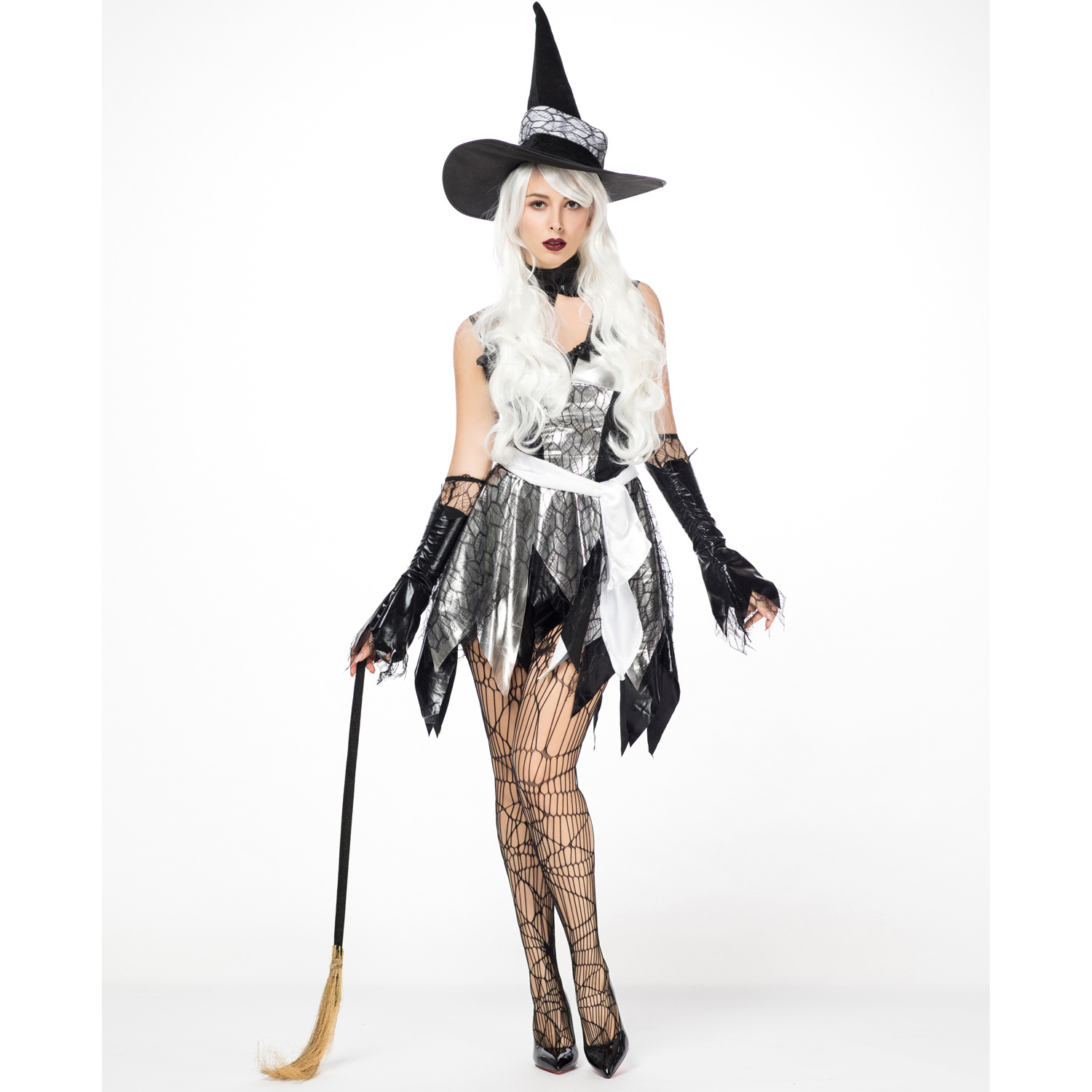 Dancing Stage <font><b>Costumes</b></font> <font><b>Halloween</b></font> <font><b>Sexy</b></font> Witch <font><b>Costume</b></font> Cosplay Role-playing Anime Witch Suit Sportswear image