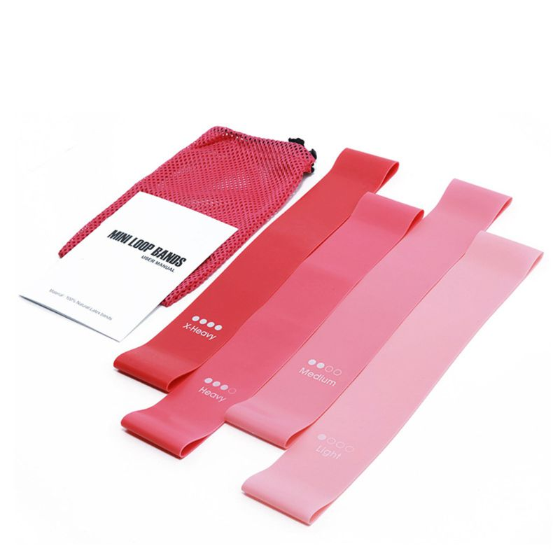 4 adet/takım TPR Yoga direnç bantları elastik Fitness bantları Mini çekme bandı sakız ev eğitimi spor salonu egzersiz ekipmanları