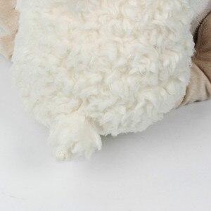 Image 5 - Bebek konfor bebek ile uyku arkadaşı havlu bebek sevimli beyaz kuzu Holding battaniye bebek oyuncak peluş hayvan çocuklar için doğum günü hediyesi