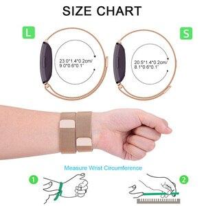 Универсальный Миланский ремешок для часов из нержавеющей стали ремешок для часов сменный Браслет ремешок для часов для Fitbit Inspire HR Heart Smartwatch