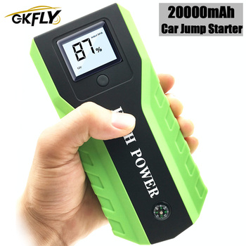 GKFLY Multi-Function 20000mAh 12V Starting Device 1000A Car Jump Starter Power Bank Car Charger For Car Battery Booster Buster недорого