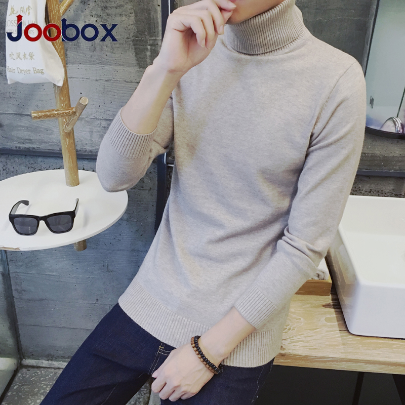 Slim Fit Mens Autumn WinterSweaters Solid Color Casual Knitted Turtleneck Men Sweater Plus Size S-3XL Pullovers Sueter Hombre