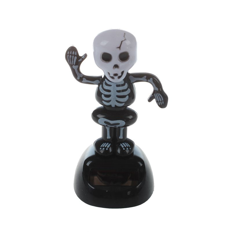 Hot Solar Power Dancing Figure Gruesome Skeleton,Novelty Desk Car Toy Ornament