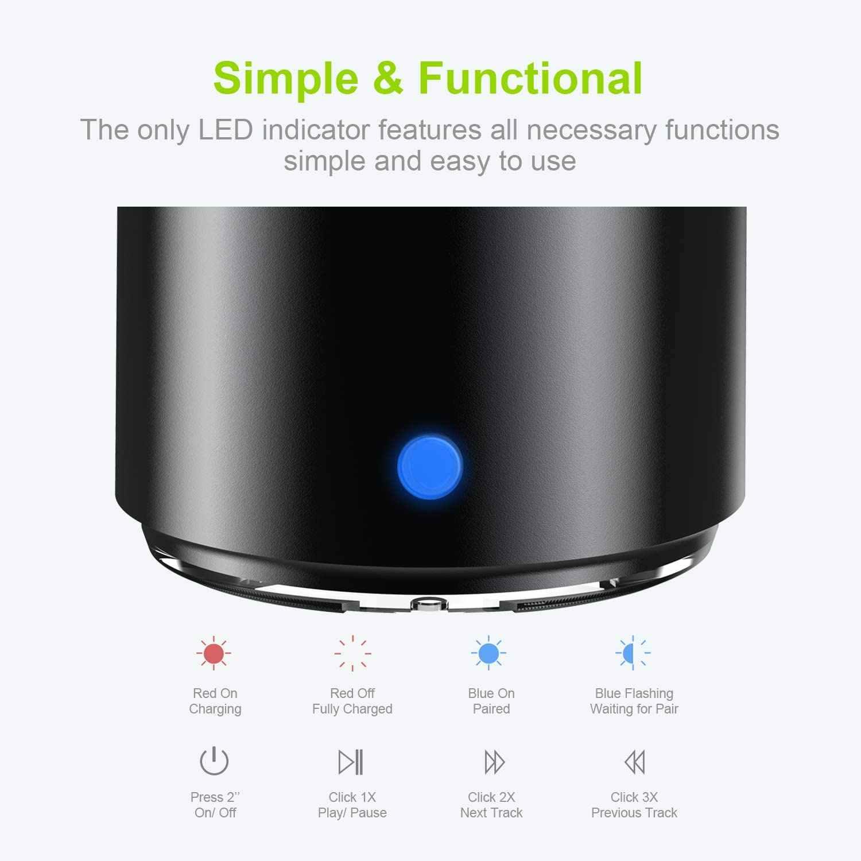 EWA A106Pro IP67 tahan air Speaker Portable Speaker Nirkabel Bluetooth 5.0 dengan Membawa Kasus Bass Radiator untuk Di Luar Ruangan Rumah