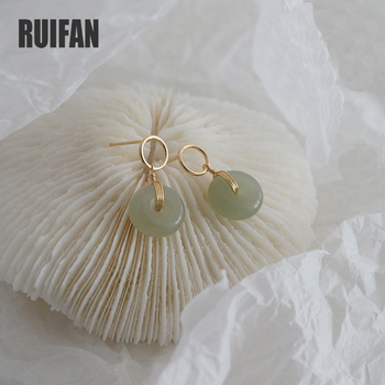 Round White/Green Natural Hetian Jade Earrings Silver 925 Trendy Drop Earring for Women Jewelry 2020 New on the Ears YEA434 925 sterling silver natural hetian white jade handmade hair sticks magpie butterfly design hairwear for women charms jewelry
