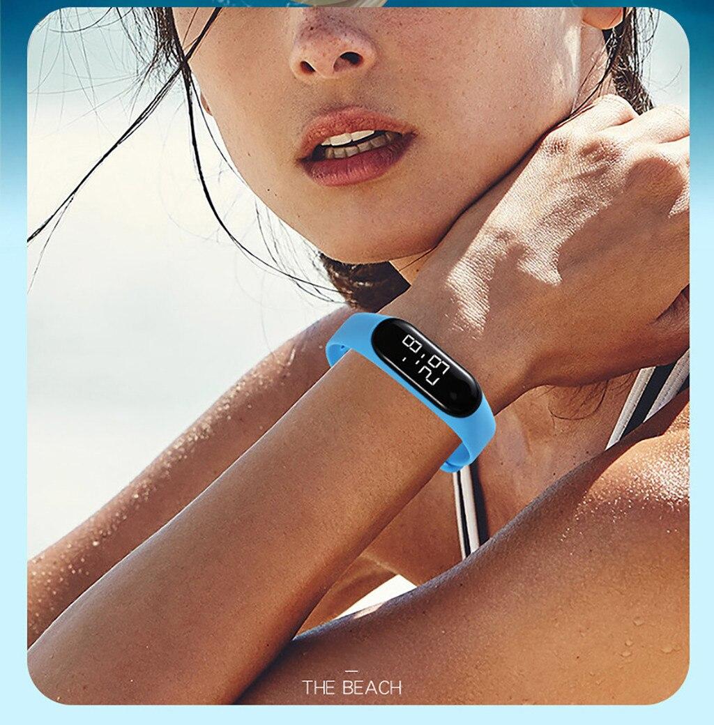H5212dee6d27143df9e13cefc6bd7751eN LED Electronic Sports Luminous Sensor Watches Fashion Men and Women Watches Dress Watch  fashion Waterproof Men's digital Watch