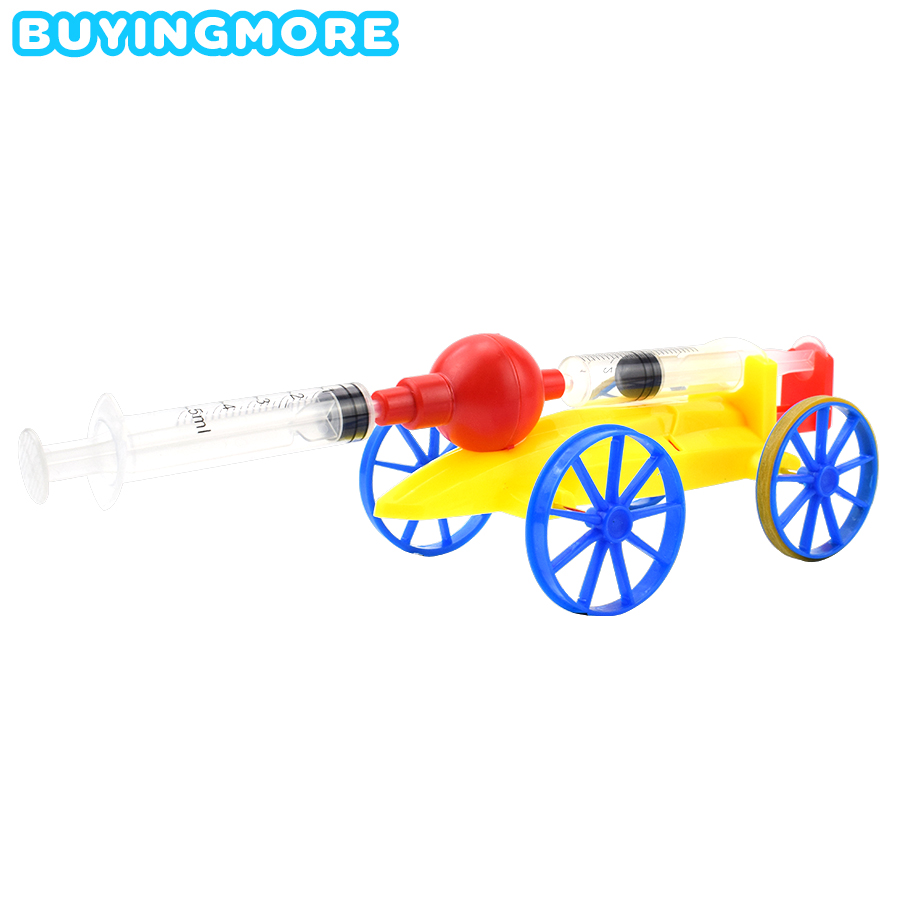 Compressed Air Powered Car Model Kit Science Toys For Kids DIY Assembly Vehicle Plastic Model Car Educational Toys For Boys Gift