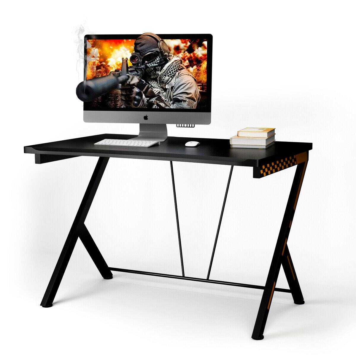 Costway Gaming Desk Computer Desk PC Laptop Table Workstation Home Office Ergonomic New