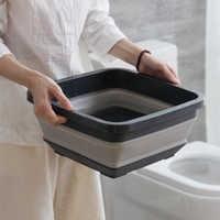 Folding Washbasin Cleaning Tool Household Wash Face Foot Portable Kitchen Washing Basin Travel Outdoor Folding Basin