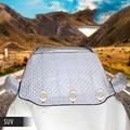 4 слоя солнцезащитный козырек для лобового стекла автомобиля  серебристый алюминий с хлопком  авто защита для переднего окна  защита от солн...