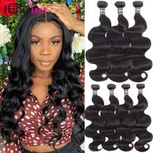 Hair-Bundles Human-Hair Body-Wave Natural-Color Fashion 3/4-Bundle-Per-Pack Peruvian