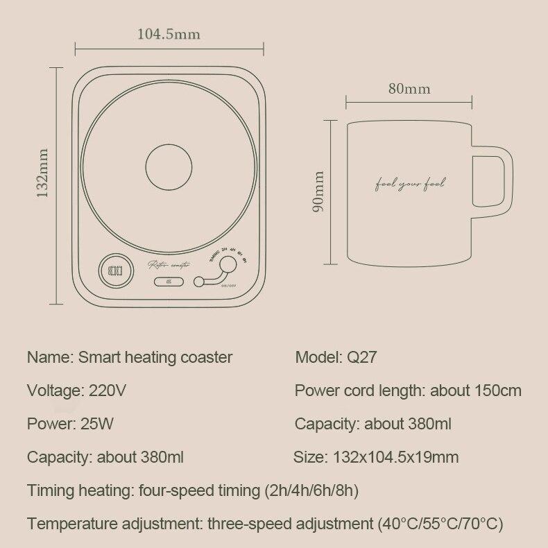 Cup Warmer for Coffee, Milk, Tea | F R E E  6