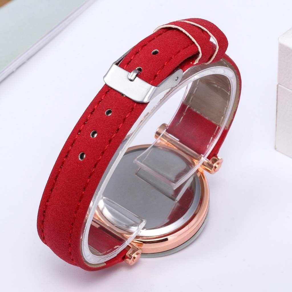 Ladies Watch Outdoor Going Fashion Luxury Inlay Diamond  Quartz Leather Belt Ladies Watch Girls Casual Simple Watch reloj mujer