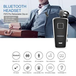 Image 2 - Fineblue F970 Pro Mini Portable in ear 10 hours Bluetooth 5.0 neck clip telescopic type business Sport Earphone Vibration bass