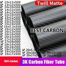 Бесплатная доставка, OD13, 14, 15, 16, 17, 18, 19, 20 мм, Длина 500 мм, Высококачественная матовая трубка из углеродного волокна с диагональю 3K, трубка CFK
