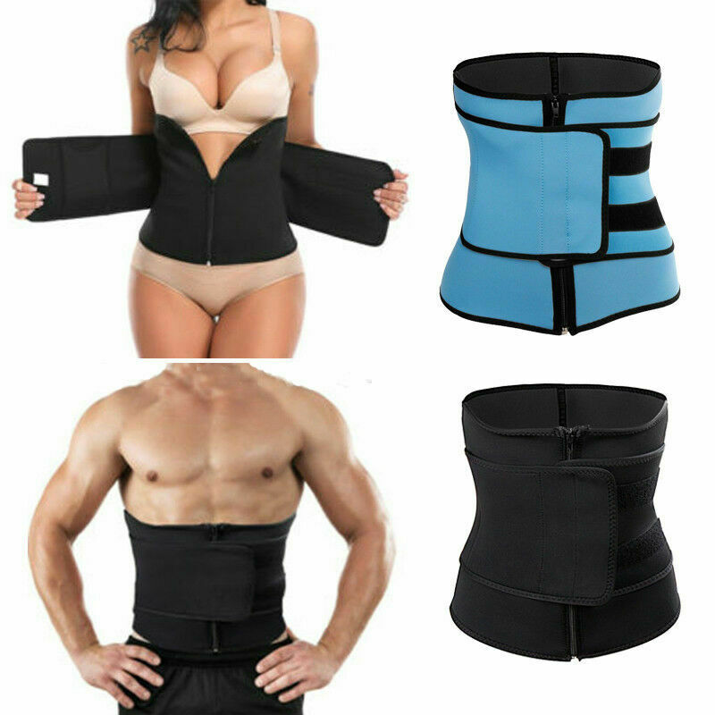 Mens Womens Tummy Waist Trainer Cincher Sweat Belt Trainer Body Shapers Slim Shapewear Sweat Belts Waist Cincher Trainer S-3XL