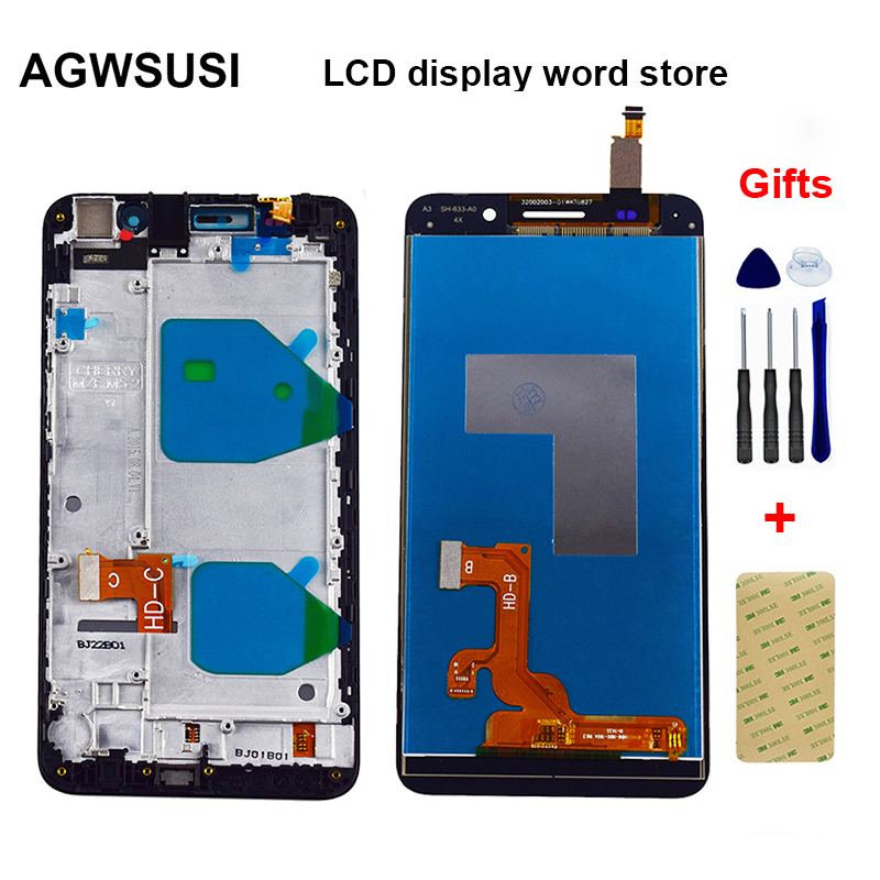 For Huawei Honor 4X Che2 L12 Che2 L23 Che2 L11 Che1 L04 LCD Display Monitor + Touch Screen Digitizer Sensor Panel Assembly Frame|Mobile Phone LCD Screens| |  - title=