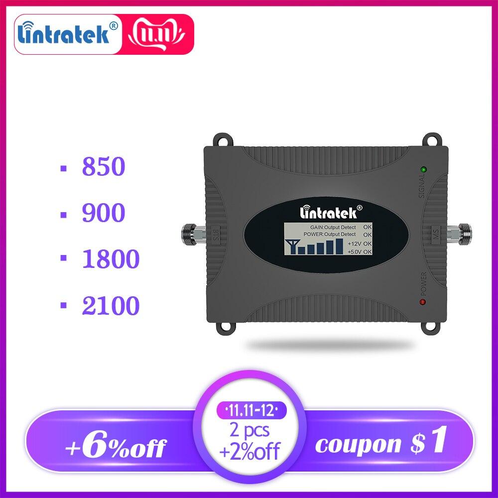 Lintratek 1800 Dcs 4G Lte GSM 900 3g B1 2100 Cellular Booster Repeater Cdma 850 2g Mobile Cellphone Signal Umts 3g Amplifier Dd