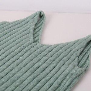 Image 4 - GOPLUS Winter Womens Tracksuit Knitted Suit Two Piece Set Women Casual Round Neck Sweater V neck Mini Dress Conjunto Feminino