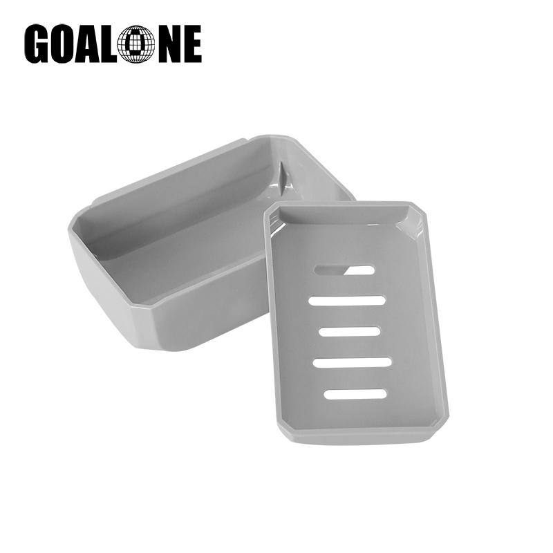 GOALONE Bathroom Wall Mount Soap Holder Double Layer Drainer Soap Dish Portable Travel Soap Tray Box Home Decoration Accessories in Portable Soap Dishes from Home Garden