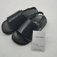 LIZIFIMO Toddler Summer Slides with Strap Open Toe PVC Soles Non-slip House Shoes